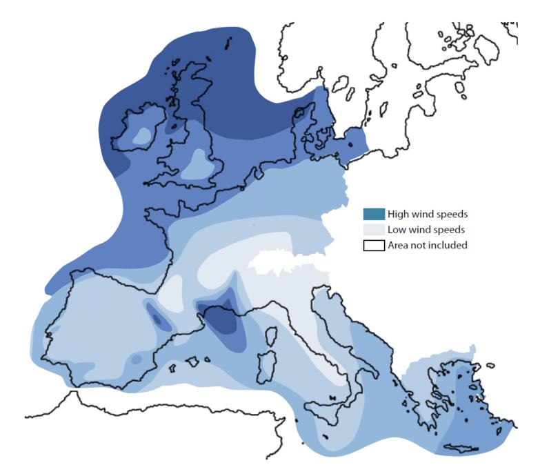 イギリス諸島は設備容量でドイツよりもはるかには少ないものの、西ヨーロッパにおける風力のサウジアラビアとなっています。(Centre for Alternative Technology)