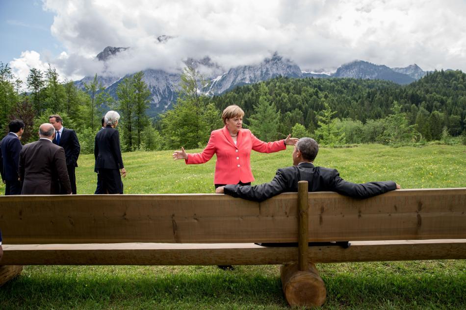気候変動対策のもうひとつマイルストーン:メルケルとG7のリーダーたちは、エルマウ(ドイツ)で今世紀中の世界経済の脱炭素化にコミットすることを合意しました。Photo: © dpa Michael Kappeler.
